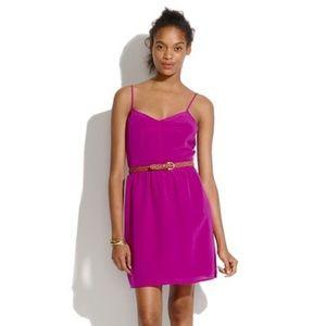 Madewell Fuchsia Silk Dress Size 2